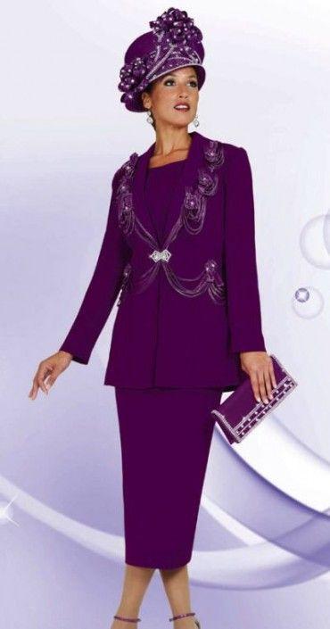 03dac1af890 Womens Designer Church Suits BenMarc 3pc Suit 4446