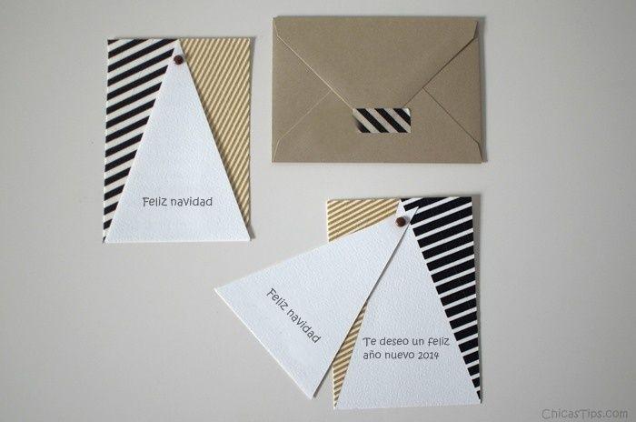 Tarjetas de navidad hechas a mano Manualidades, Navidad and Cardmaking