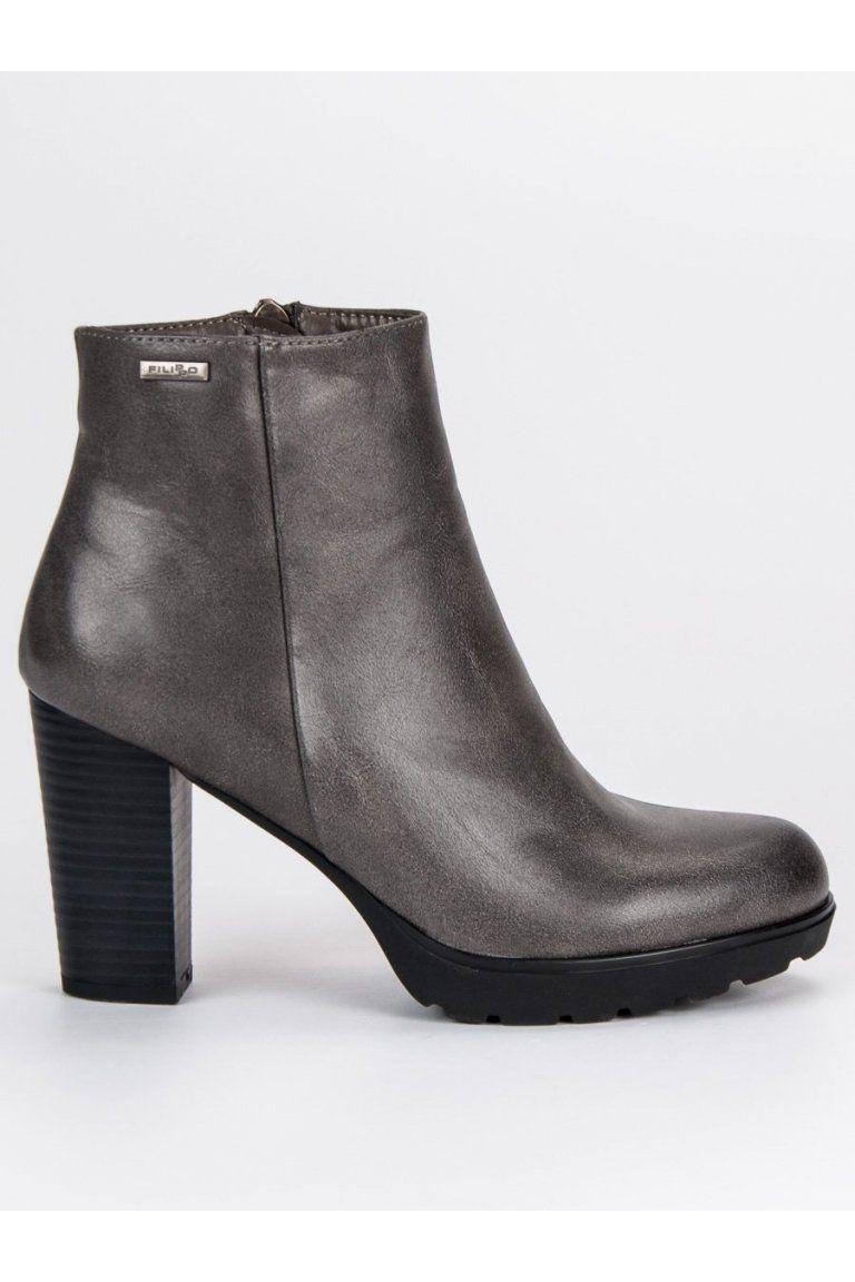0e2a823a55d5 Sivé topánky na stĺpiku Filippo
