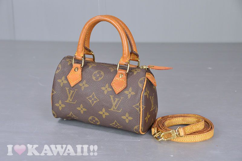 65e5f89d9a16 Authentic Louis Vuitton Monogram Mini Speedy With Strap Shoulder Bag M41534