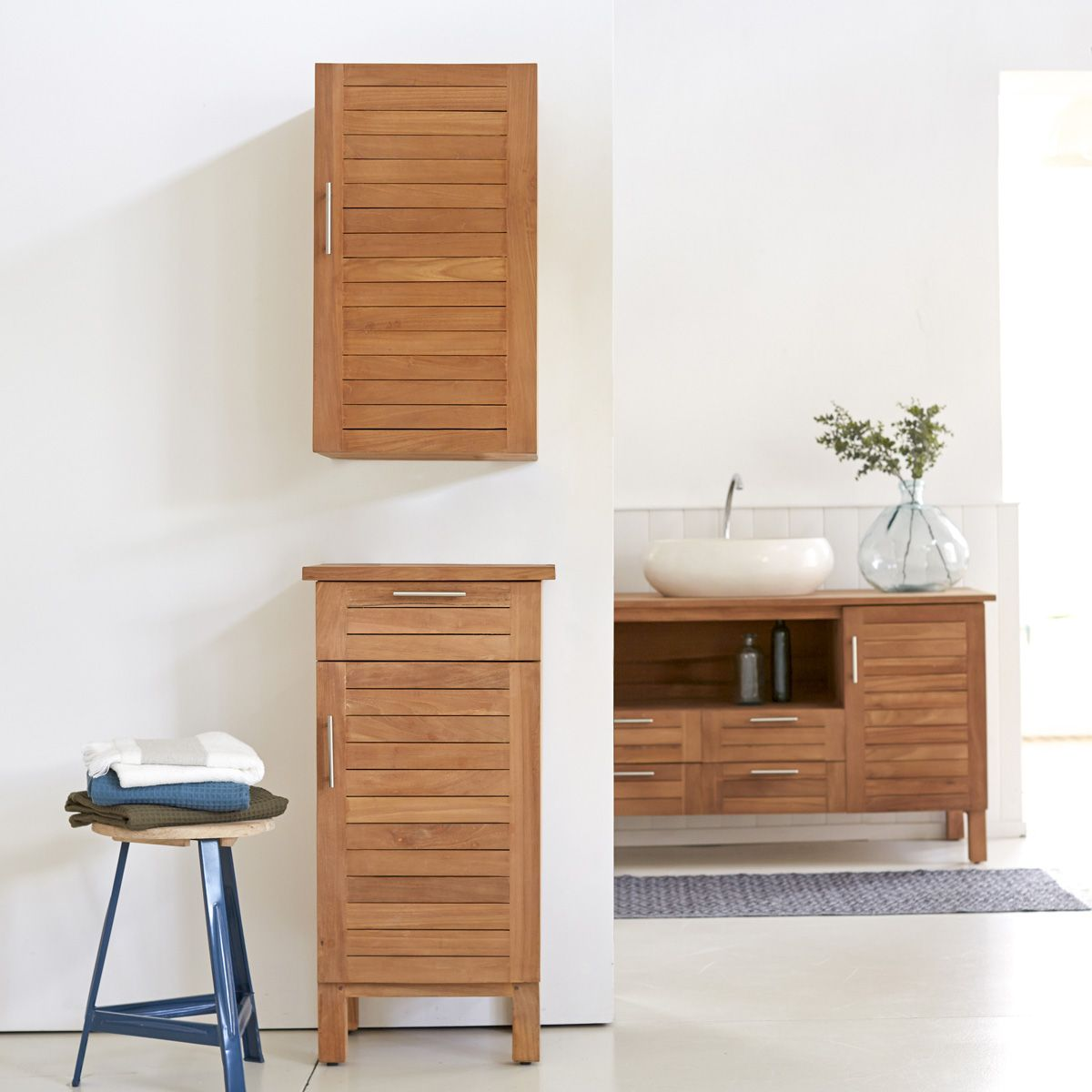 Modular Teak Bathroom Set Bathroom Storage Column Range