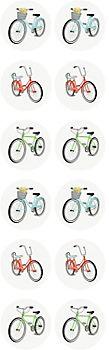 Bikes Circle Stickers