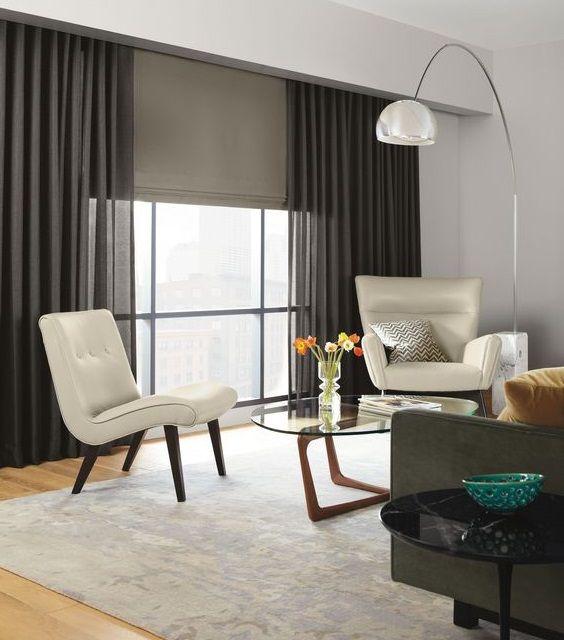 Cortinas con estores fotos cortina pinterest window window coverings and living rooms - Estores personalizados con fotos ...