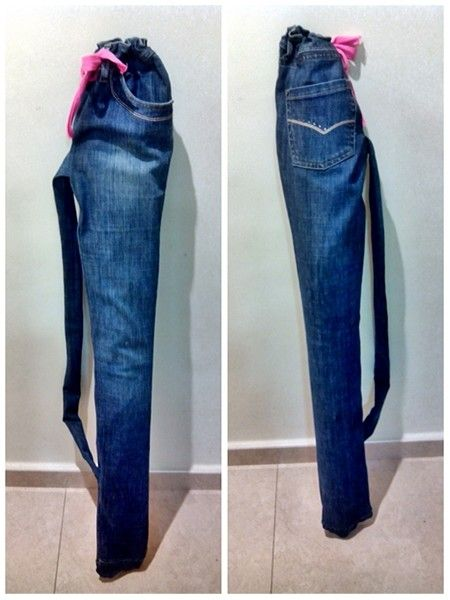 Funda para sombrilla con jeans vaqueros reciclados for Fundas para sombrillas