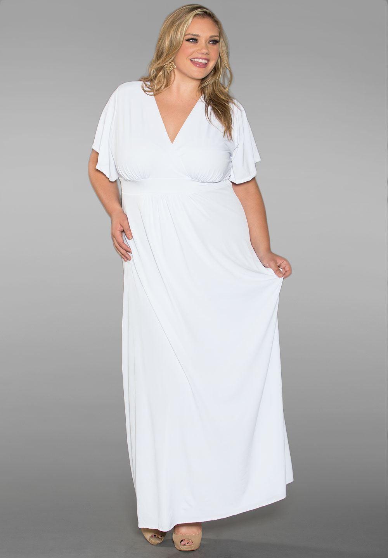 Classic Maxi Dress In White Plus Size Maxi Dresses Maxi Dress White Dress [ 1440 x 1000 Pixel ]