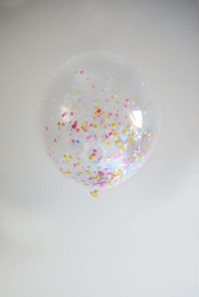 Little Lovely Company - Confetti balloons: Pretty pastel