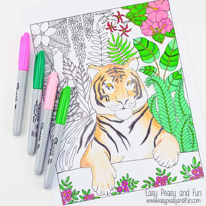 tiger coloring pages - Google-haku Viidakko Pinterest Tigers - new elephant mandala coloring pages easy