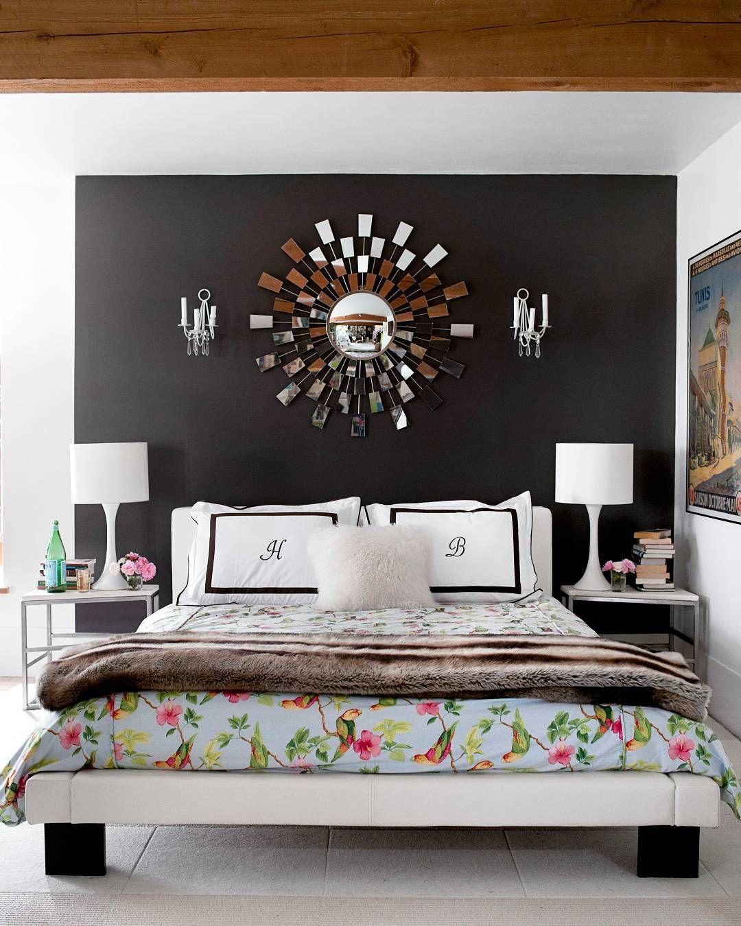 Dark paint ideas for bedroom  Bright whites u dark walls ditteisager  Design Deirdre Heekin