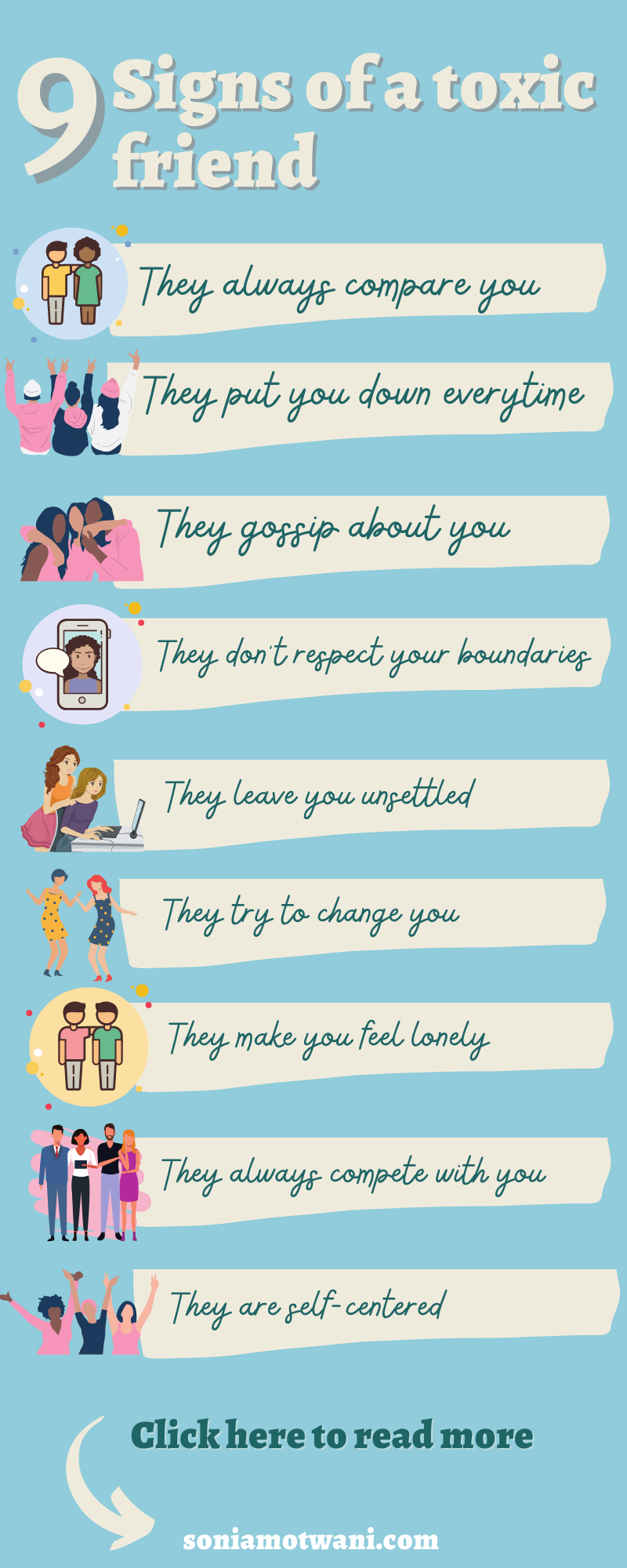 Symptoms toxic friendship Toxic Friends