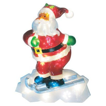 Battery Operated Icy Santa Lawn Multicolor 3 5