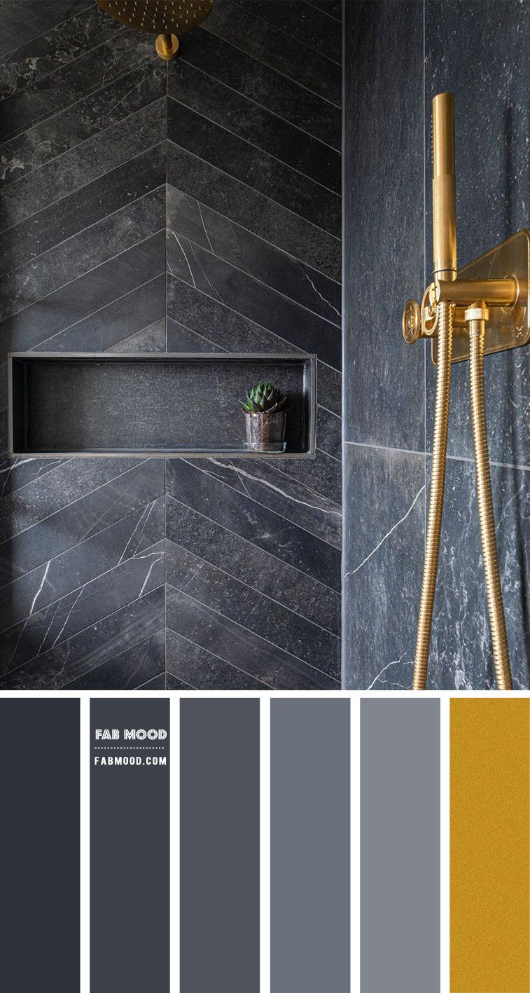 Photo of Grey and Gold Color Palette for Bathroom