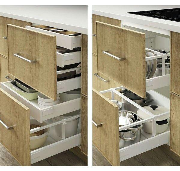 Pin By Sive On Maison Pratique Modern Kitchen Furniture Creative Storage Cabinet