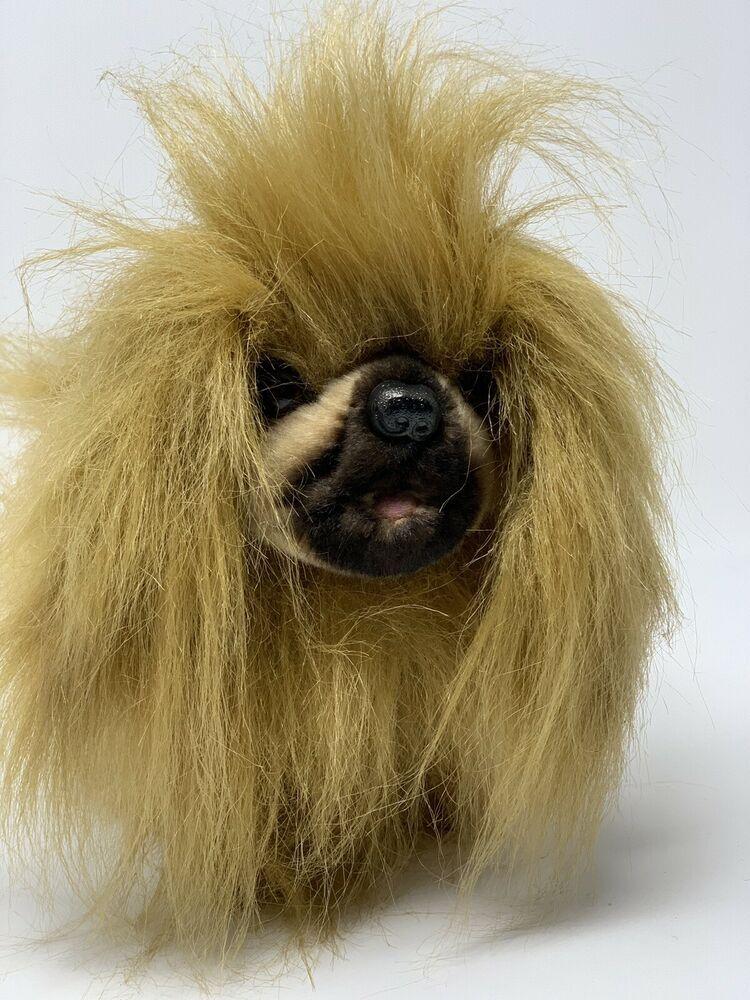 Hansa Pekingese Dog Standing Plush Realistic Stuffed