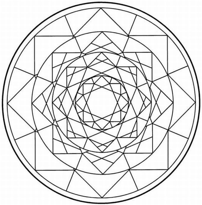 Printable Mandalas Coloring Pictures 3d Mandala Book