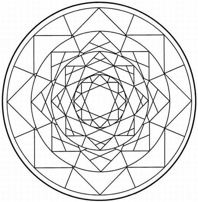 Printable Mandalas Coloring Pictures 3d Mandala Coloring Book ...