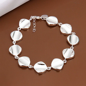 cool 925 Silver Charm Bracelet Hand Chain Cuff Fashion Bangle For Women Jewelry Gift - For Sale View more at http://shipperscentral.com/wp/product/925-silver-charm-bracelet-hand-chain-cuff-fashion-bangle-for-women-jewelry-gift-for-sale/