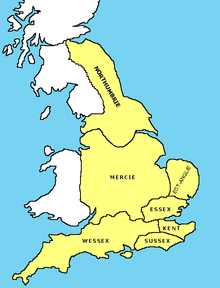 Map Of England 9th Century.Overview Map Of Anglo Saxon England In The Early 9th Century On The