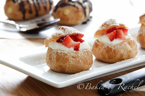 pate a choux: cream puffs and eclairs - baked by rachel