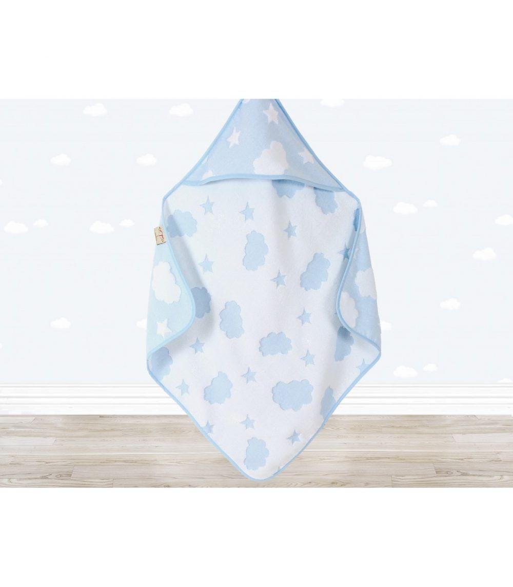 Irya Textile Cloud Baby Swaddle Pink Blue Goruntuler Ile