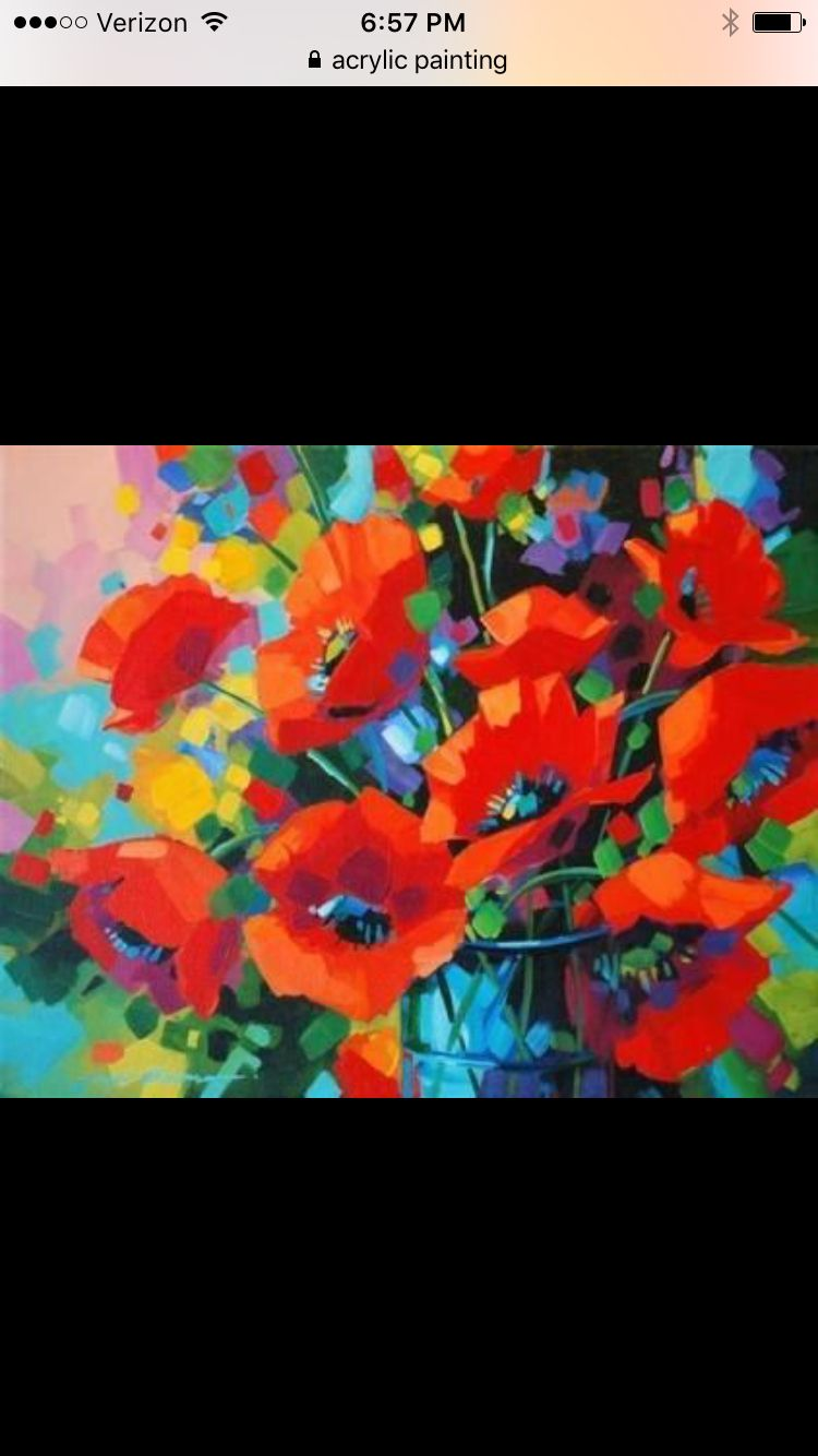Poppies My Art Projects Pinterest
