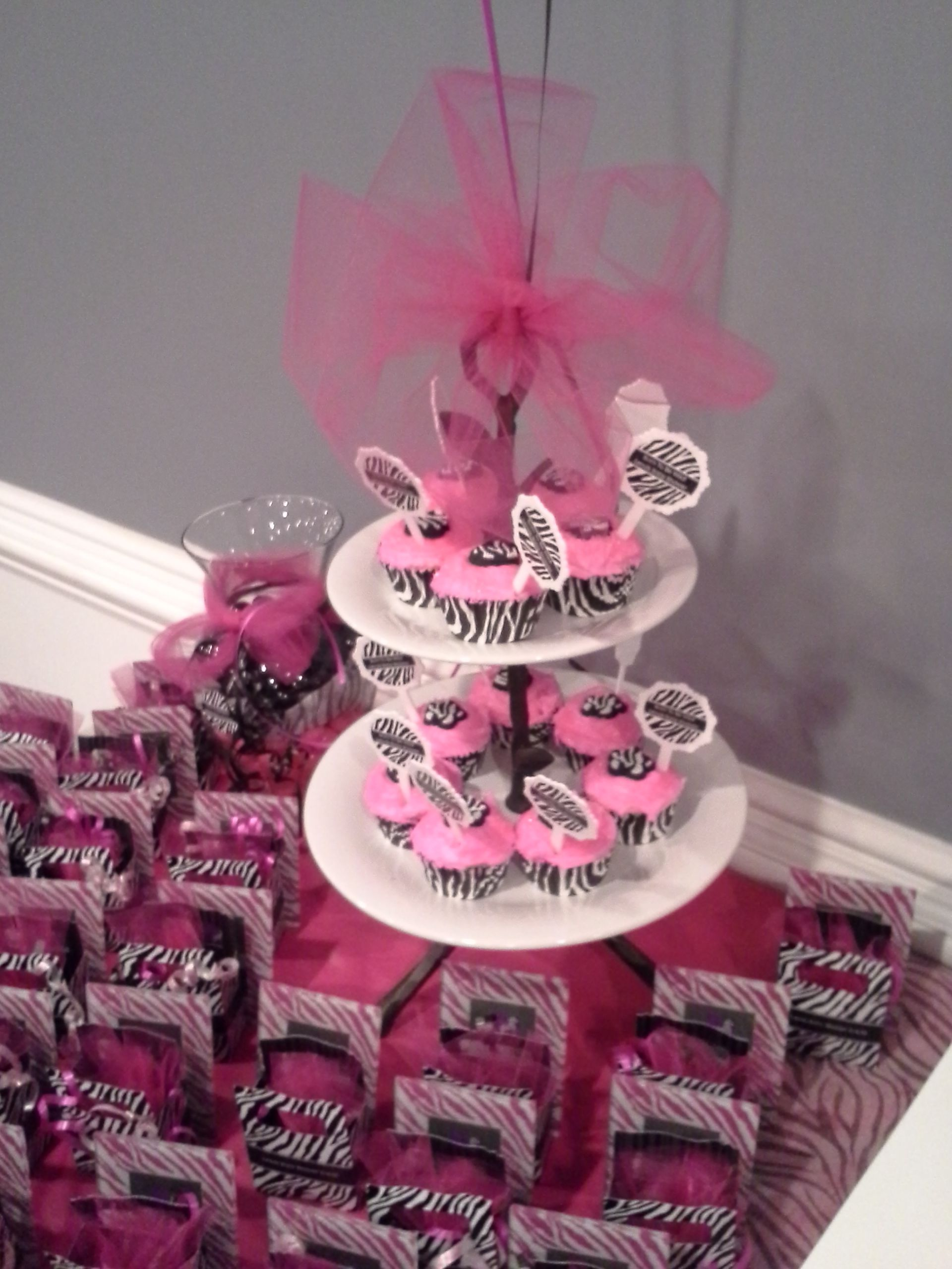 Pink and black zebra baby shower ideas