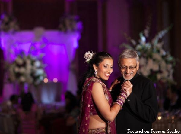 Indian Wedding Reception Father Daughter Dance In Boca Raton Florida By Focused On Forever Studio