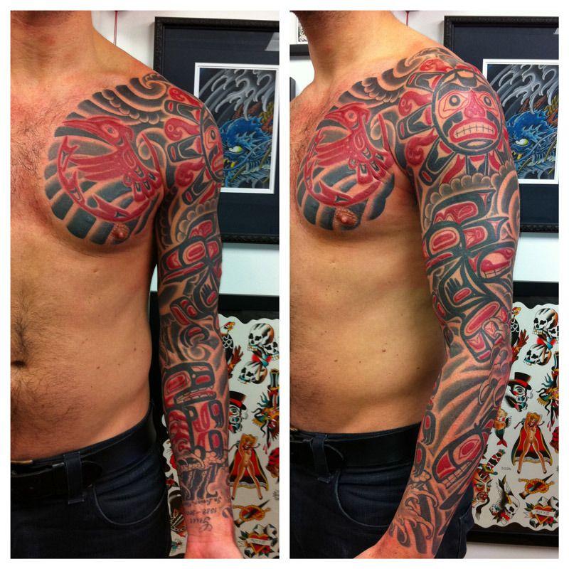 Haida Tattoo Sleeve Haida Tattoo Sleeve http://www.tattoopins.com/500 ...