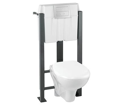 Pack de wc suspendido IMAGEO - Leroy Merlin Spanish bathroom - meuble pour wc suspendu leroy merlin