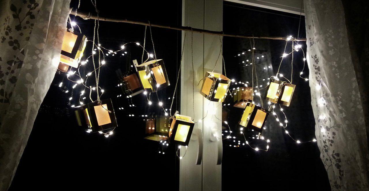 Mini-Laternen für´s Fenster –