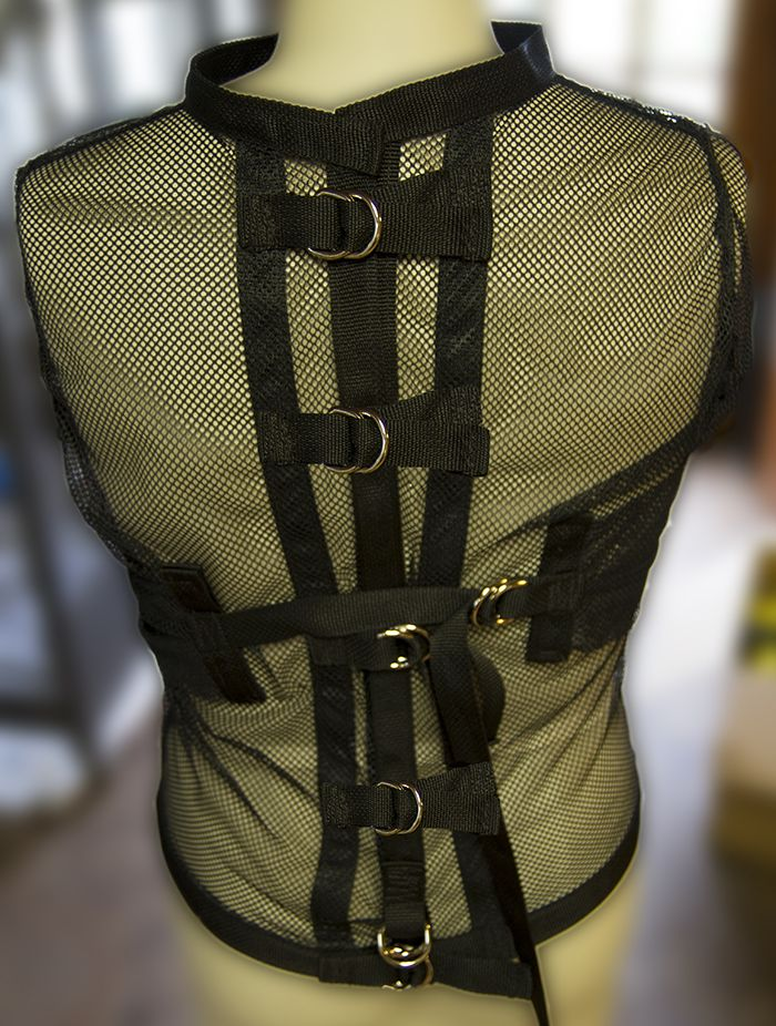 Clear mesh straight jacket $149.99 only at Monkey Dungeon ...