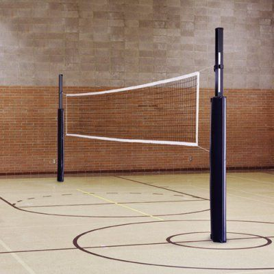 Blast Steel Indoor Outdoor Competition Volleyball Set Navy Blue With Floor Ground Sockets Blast Comple Volleyball Net Outdoor Volleyball Net Volleyball Set