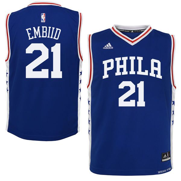 Joel Embiid Philadelphia 76ers adidas Youth Replica Jersey - Royal -  34.99 19734b0ff