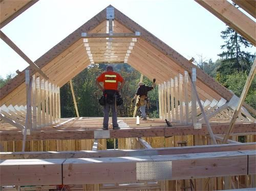Attic framing loft framing pinterest attic roof for Room roof design images