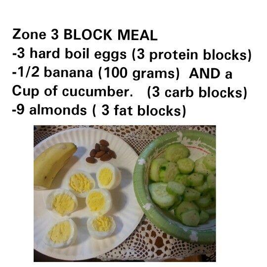Mary Jo 3 Block Zone Meals Zone Diet Recipes Zone Recipes Zone Diet