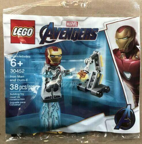 Lego Iron Man Dum-E Minifigure Marvel Avengers Endgame Polybag Poly 30452 RARE!!