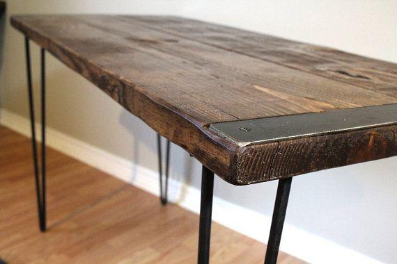 Desk And Bench Table Wood Desk Computer Desk Reclaimed Wood