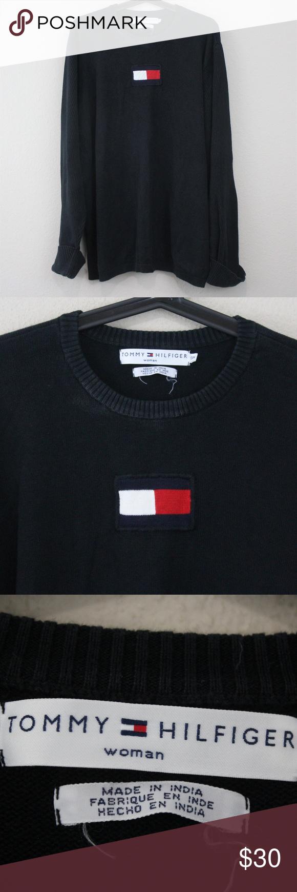 Vtg Tommy Hilfiger Big Flag Sweater G266 Tommy Hilfiger Sweaters Tommy Hilfiger Sweater [ 1740 x 580 Pixel ]