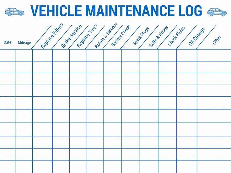 30 Vehicle Maintenance Schedule Template Excel in 2020
