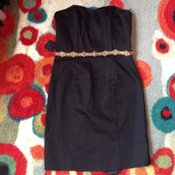 H&M Black Dress LBD - H&M Strapless dress; not lined. We all know H&M runs small. It fits me and I'm between a small/medium (Sz 4). The perfect blank canvas for fabulous accessories. H&M Dresses