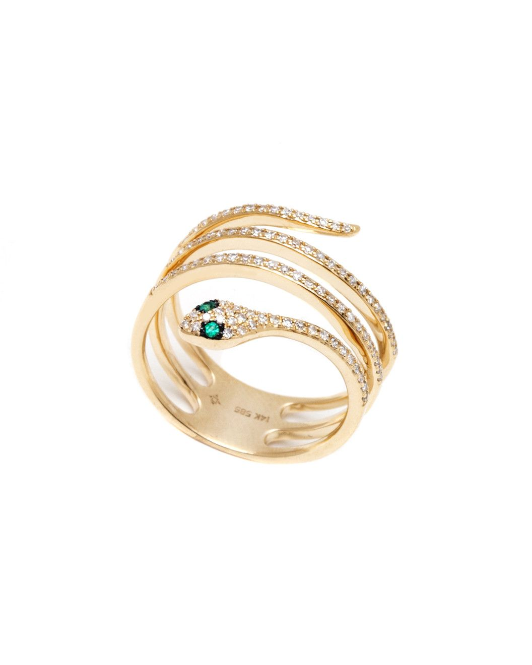 Spotted this Jewels by Lori Kassin 14K 0.24 ct. tw. Diamond & Emerald Snake Ring on Rue La La. Shop (quickly!).