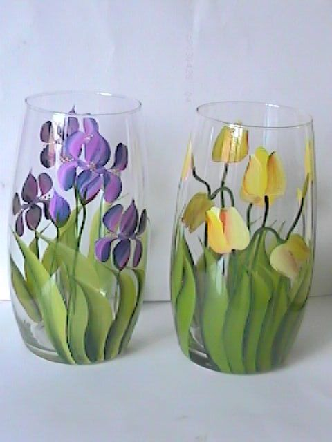 Hand Painted Glass Vase Item Id Gw00003 Size Description Hand