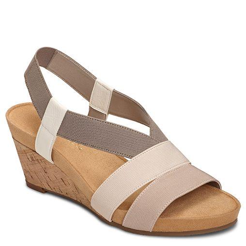 Light Rail Elastic Wedge Sandal   Women's Sandals Wedge Sandals   Aerosoles
