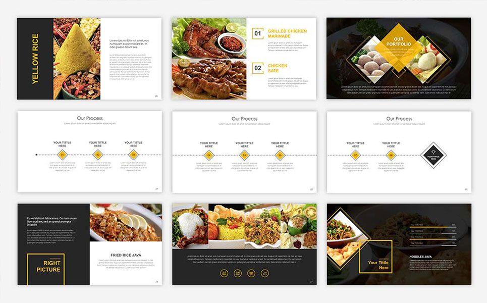 Food Presentation Powerpoint Template 67553 Food Presentation Powerpoint Templates Powerpoint