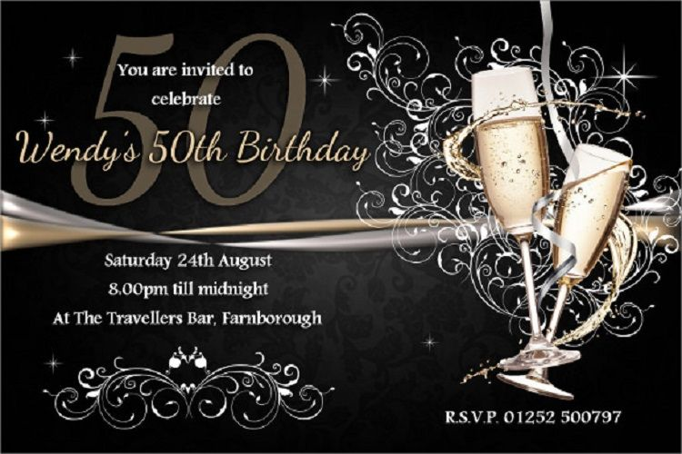 Gold Birthday Invitation Card Maker Free Download