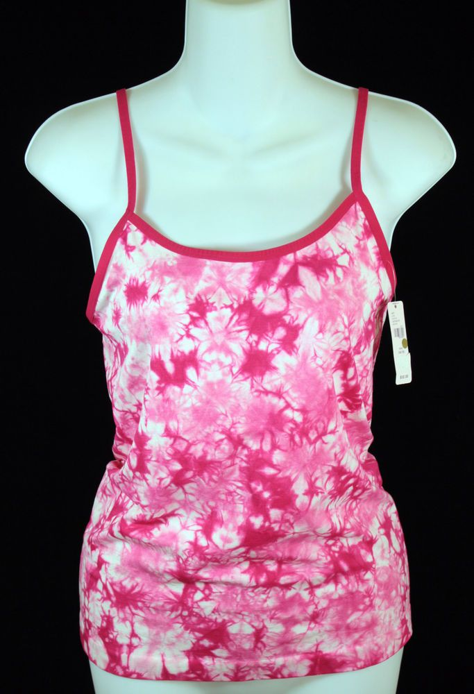 Cacique Tank Top Womens Size 14/16 Pink and White Tie Dye NEW | Clothing, Shoes & Accessories, Women's Clothing, Tops & Blouses | eBay!