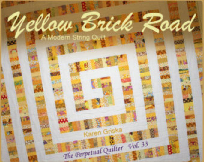 Yellow Brick Road Quilt Pattern, Modern Quilt Pattern, String ... : string quilts patterns - Adamdwight.com