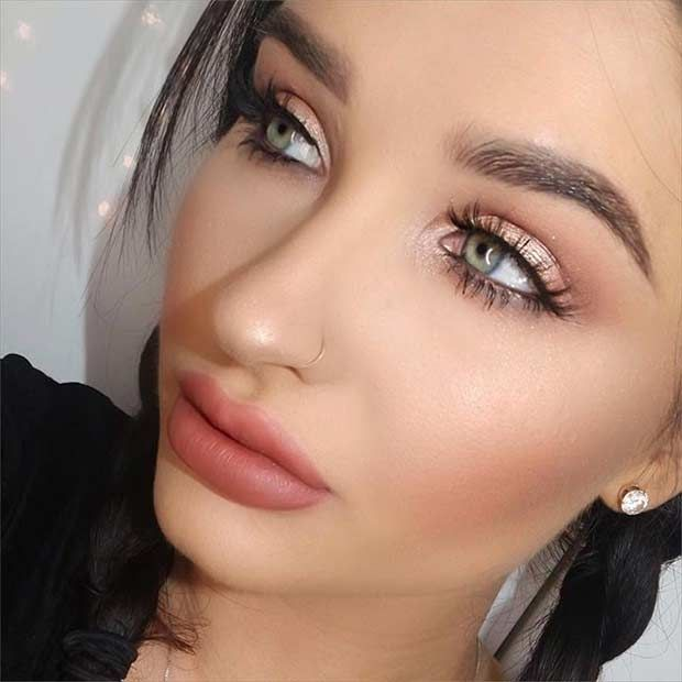 Gold Eye Makeup Look #style #shopping #styles #outfit #pretty #girl #girls #beauty #beautiful #me #cute #stylish #photooftheday #swag #dress #shoes #diy #design #fashion #Makeup