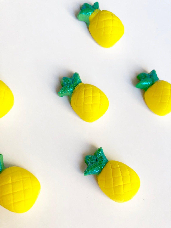Fondant pineapple cake topper summer theme cake topper