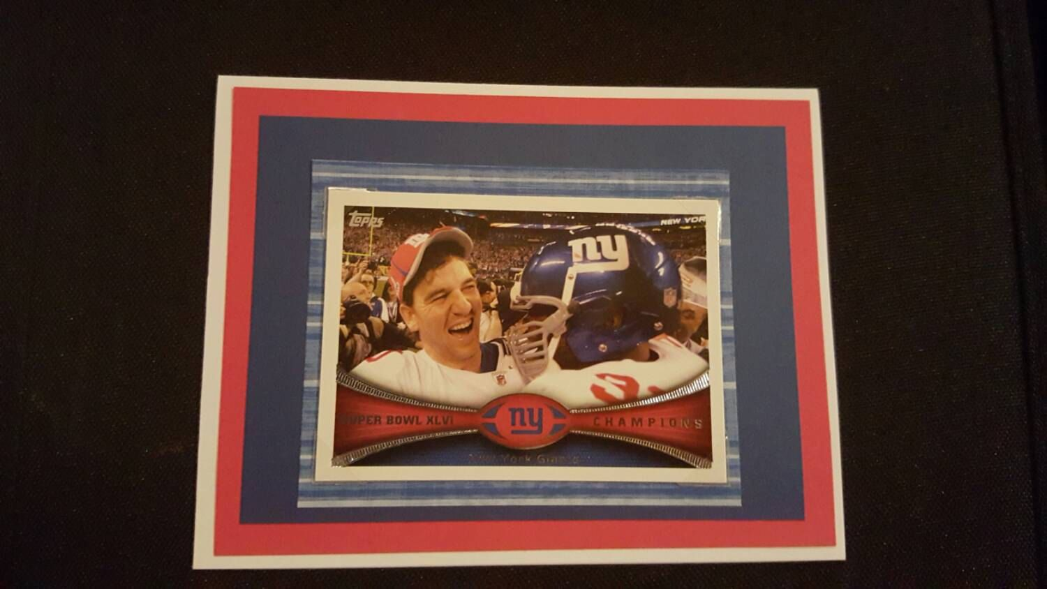 New York Giants Birthday Card With Eli Manning Or Odell Beckman Jr