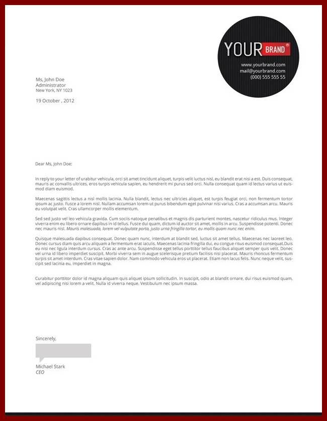 business letter templates free download the best sample template - free business letterhead templates download